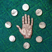 Palmistry Hand /// Phases of the Moon //: Laser Etched Wood