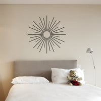 36 X 36 Starburt Vinyl Wall Art Decal Sticker | Luulla