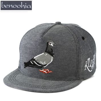BBS024 Pokemon Animal Embroidery Baseball Cap Flat Snapback Hats Adult Cotton Hip Hop Caps Casquette For Sport