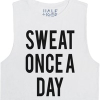 Sweat Once a Day-Female Snow T-Shirt