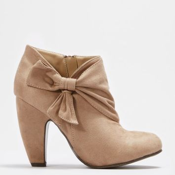 Taupe Wrapped Bow Shootie | Heels | rue21