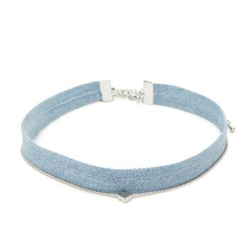 Denim Choker Set