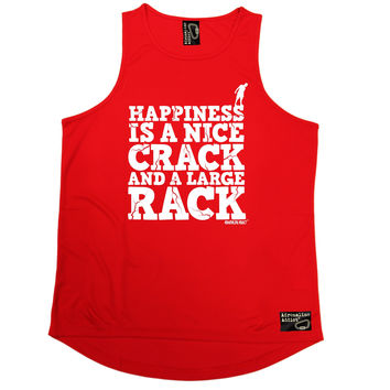 Adrenaline Addict Happiness Is A Nice Crack And A Large Rack Rock Climbing Men's Training Vest