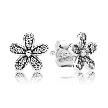Authentic Pandora Jewelry - Dazzling Daisy Stud Earrings