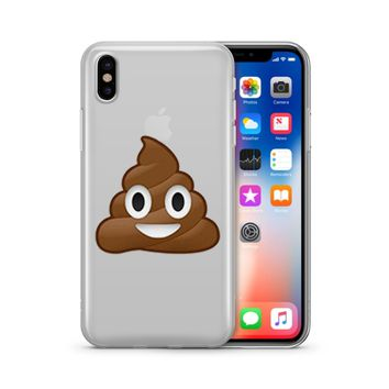 Poop Emoji - Clear TPU Case Cover