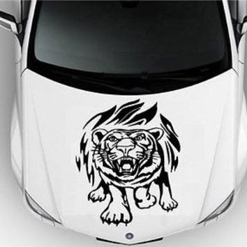 Hood Auto Car Vinyl Decal Stickers Animals Tiger Flames Tribal Tattoo S2757