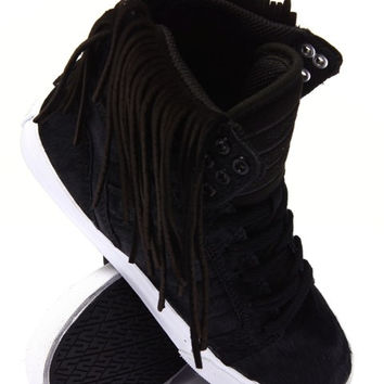 Fringe, Leather And Pony Hair High Tops Fringe Is In! Size 7.5 Or 8.5 (Small/Indie Brands)