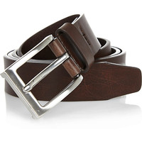 River Island MensBrown basic silver tone buckle belt