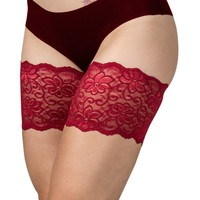 """Bandelettes DOLCE RED Elastic Anti Chafing Thigh Bands 6"""" in length"""