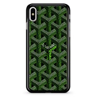 Goyard Green iPhone X Case