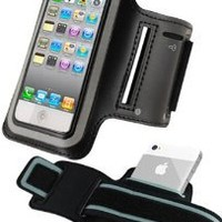 iPhone 5 and iPhone 5S Armband, HHI Sports Armband for Apple iPhone 5 and iPhone 5S - Black (Package include a HandHelditems Sketch Stylus Pen)