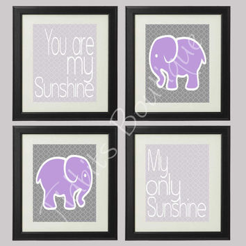 Set of 4 You are my Sunshine My only Sunshine by tidbitsboutique
