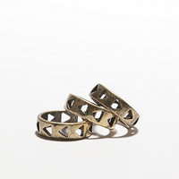 With Love From CA Triangle Cutout Ring Set at PacSun.com