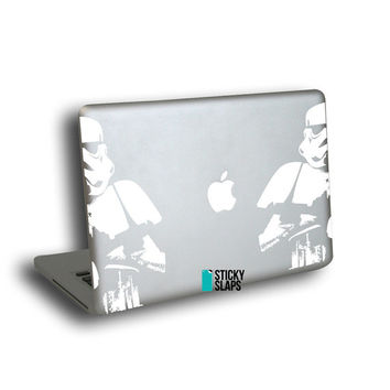 Storm Trooper - Macbook Air decals, also fits Macbook Pro models partial skin stickers