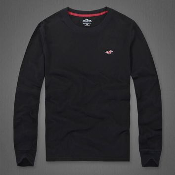 Hollister Women Men Fashion Casual Top Sweater-4