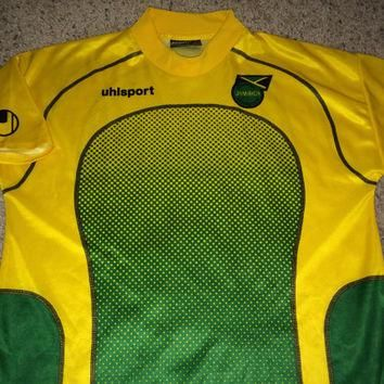 Sale!! Vintage Uhlsport JAMAICA Soccer Jersey Football shirt