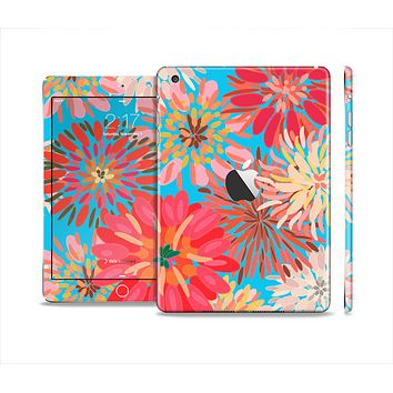 The Brightly Colored Watercolor Flowers Skin Set for the Apple iPad Mini 4