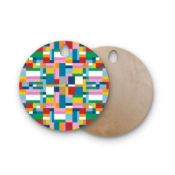 """Project M """"Map"""" Round Wooden Cutting Board"""