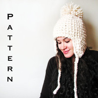 PDF PATTERN  The Yeti  Crochet Ear Flap Trapper Hat by TinySheep