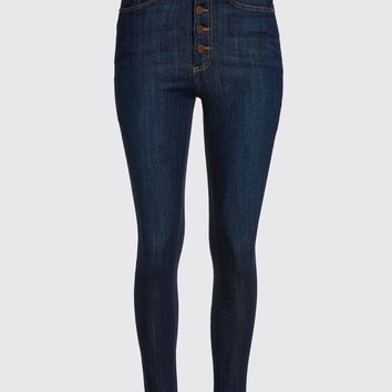 Good High Rise Exposed Button Jean | Alice + Olivia