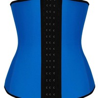 Fxford Women's Latex Sports Waist Trainer Corset for Weight loss Body Shapewear, FX110201(Rose, M)