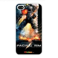 2013 Pacific Rim 4.robot Fashion Design Hard Case Cover Skin Protector for Iphone 4 4s Iphone4 At & T Sprint Verizon Retail Packing (White Pc + Pearlescent Aluminum) Fs-00259