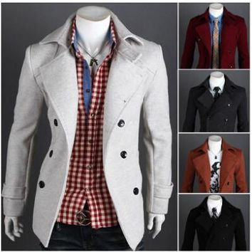 Men's Double-Breasted Jacket