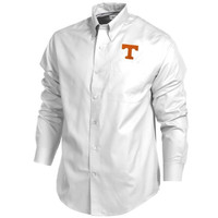 Tennessee Volunteers Cutter & Buck Easy Care Fine Twill Button-Down Shirt – White