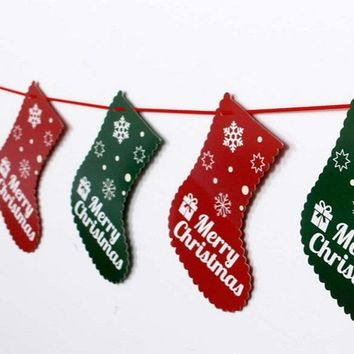 Christmas Party Decoration Home Bunting Banner