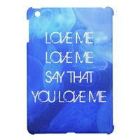 LOVE ME Song Lyrics on Jelly Fish Ipad mini from Zazzle.com