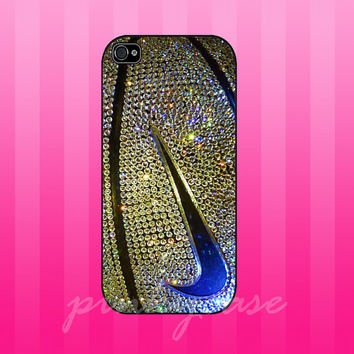 colorful nike photo glitter GOLD case for samsung galaxy s3,s4, iphone 4/4s, iphone 5. iphone 5s. iphone 5c case