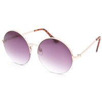 Full Tilt Bowie Round Sunglasses Gold One Size For Women 24671962101