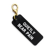 Quietly Bear Pain Keychain