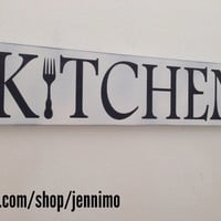 Kitchen wood hand painted sign