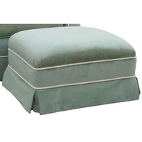 Angel Song 221020179 Classic Velvet Green Adult Club Stationary Ottoman