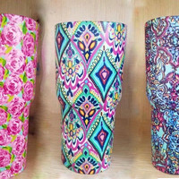 Preppy Hydro-Dipped Cups