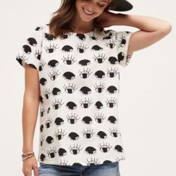 Porridge Gazer Tee in Black & White Size: