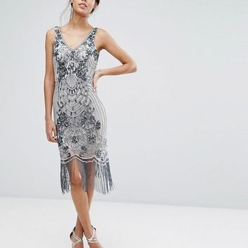 Frock and Frill - Robe ornementée style années 20 at asos.com