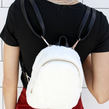 """Furry Feels"" Mini Backpack"
