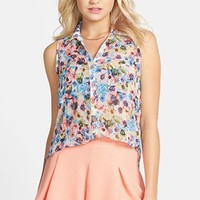 Lush Sleeveless Chiffon Blouse (Juniors)