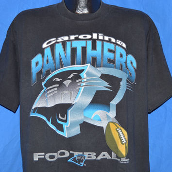 90s Carolina Panthers Football t-shirt Extra-Large