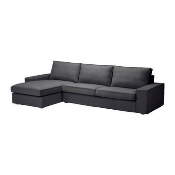 KIVIK Sofa and chaise lounge - Dansbo dark gray - IKEA