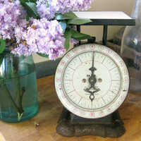Vintage Kitchen Scale with Marble Tile by by RiverHouseDesigns