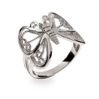 Sterling Silver Jewelry - Mariah's Sterling Silver Butterfly Ring