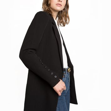 BLACK MULTI BUTTON BLAZER
