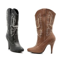 Ellie Shoes E-418-Cowgirl 4 Heel Ankle Cowgirl Boot