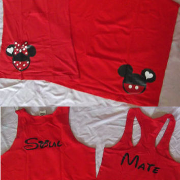 Get A Free Couples Set When You Purchase Two Couples Sets Disney Mickey and Minnie Soul MatesCouples Shirts