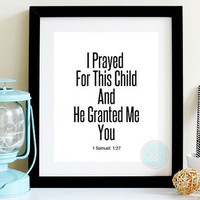 Minimalist Nursery Wall Decor Baby Shower Gift For Her Bible Scripture Verse Quote Poster Black White Home Christian Typography Artwork