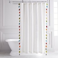 Eliza Tasseled Shower Curtain