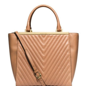 Michael Michael Kors Medium Quilted Leather Lana Tote